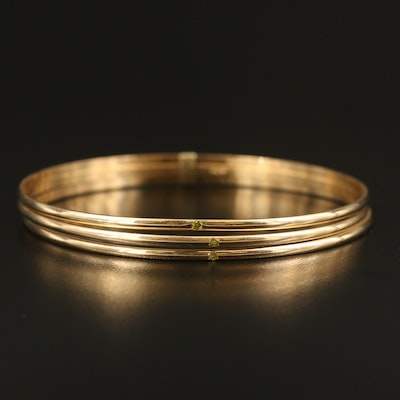 14K Harem Bangle with Citrine Accents