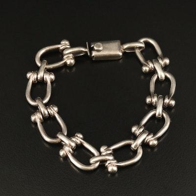 Mexican Sterling Fancy Chain Bracelet