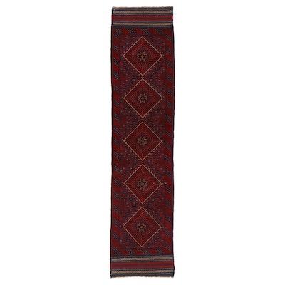 2'0 x 8'6 Handwoven Afghan Turkmen Mixed Technique Carpet Runner, 2000s