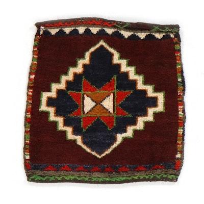 1'9 x 1'10 Hand-Knotted Persian Kurdish Rug, 1930s