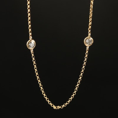 EFFY 14K Diamond Station Necklace