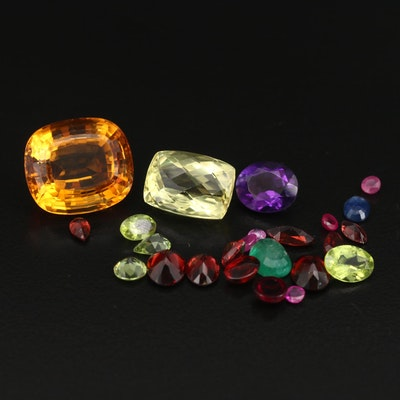 Loose 40.10 CTW Citrine, Garnet, Sapphire and Additional Gemstones