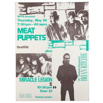 Meat Puppets, Graffiti, Miracle Legion, and Brian Ritchie Concert Poster