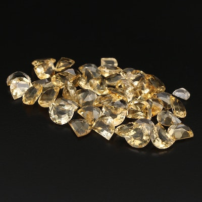 Loose 108.93 CTW Half Moon Faceted Citrine