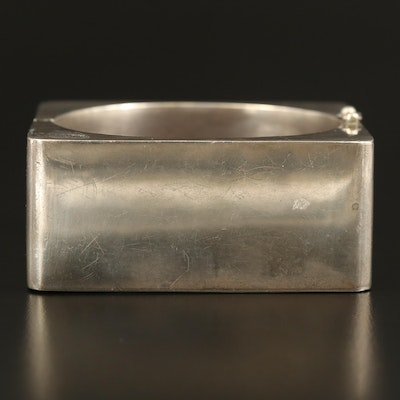 Mexican Los Ballesteros Sterling Hinged Bangle