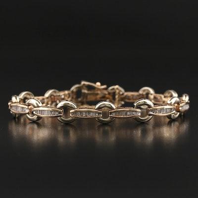 10K 1.50 CTW Diamond Link Bracelet