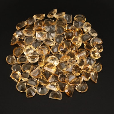 Loose 1.60 CTW Half Moon Faceted Citrine