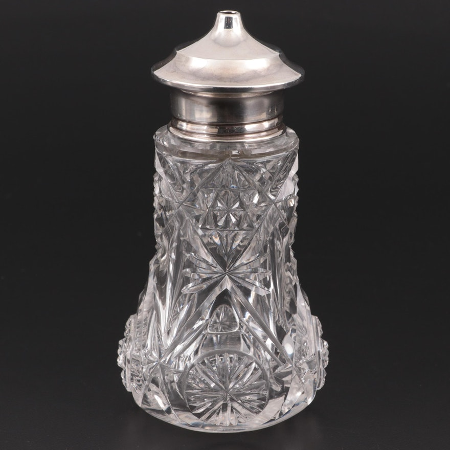 English Sterling and Glass Sugar Caster, 1918