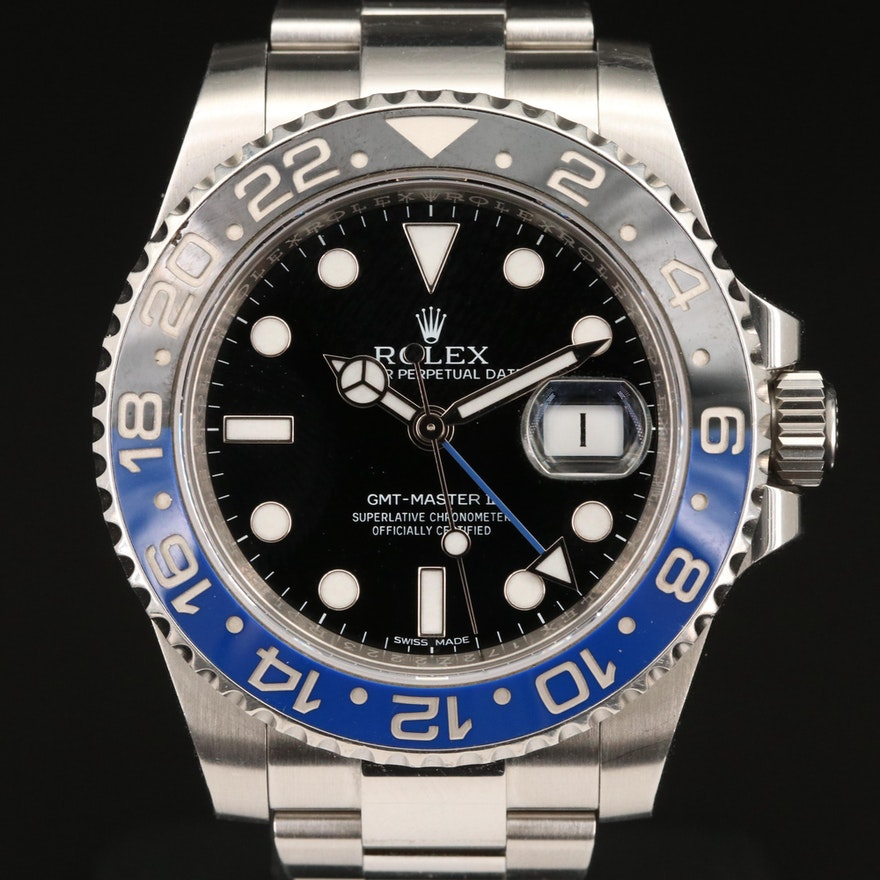 "Rolex GMT-Master II ""Batman"" 116710BLNR Stainless Steel and Ceramic Wristwatch"