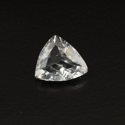 Loose 1.76 CT Trillion Faceted Aquamarine