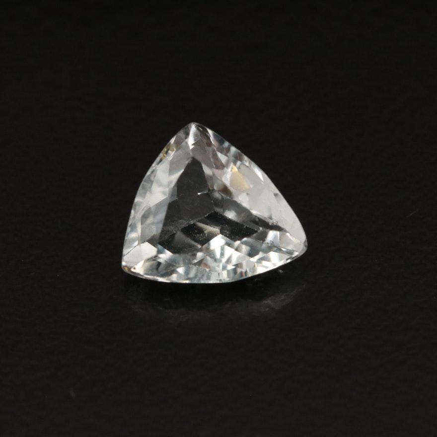 Loose 1.76 CT Trillion Faceted Aquamarine