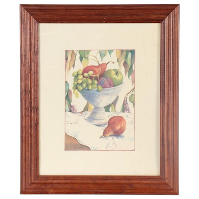 Still Life Offset Lithograph of Fruit after Cindy Kuris Sacks, Late 20th Century