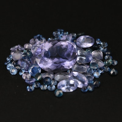 Loose 8.24 CTW Faceted Iolite, Tanzanite and Sapphire