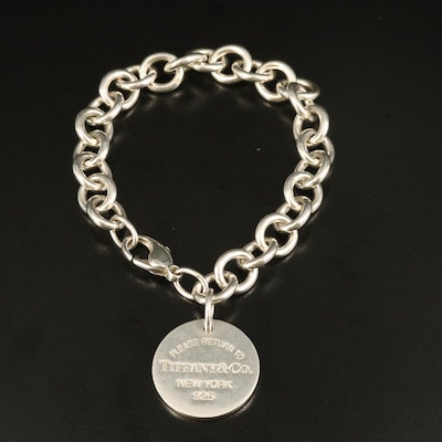 "Tiffany & Co. ""Return to Tiffany"" Sterling Tag Bracelet"