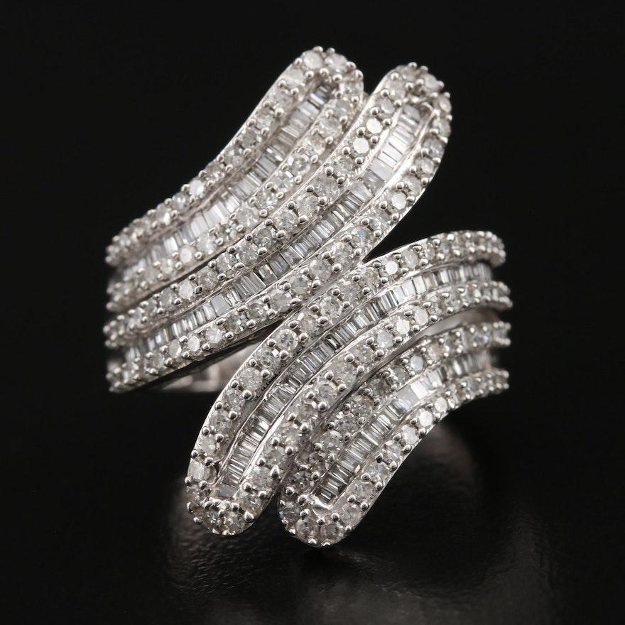 10K 2.00 CTW Diamond Bypass Ring