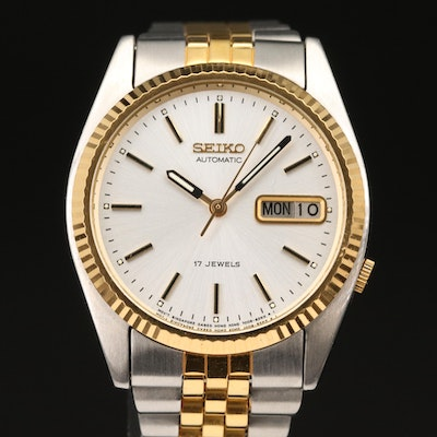 1995 Seiko SNXJ90 Two-Tone Automatic Wristwatch