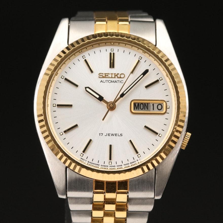 1995 Seiko SNXJ90 Two-Tone Automatic Wristwatch