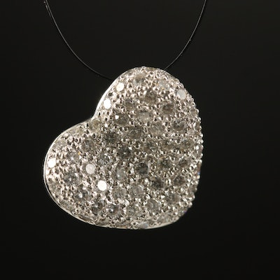 18K Diamond Heart Pendant