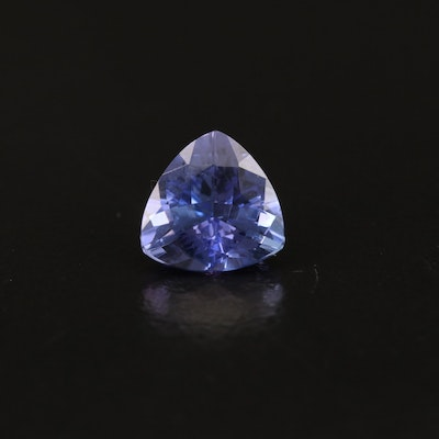 Loose 1.99 CT Trillion Faceted Tanzanite