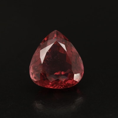 Loose 8.73 CT Pear Faceted Tourmaline