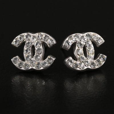 Chanel Logo Stud Earrings