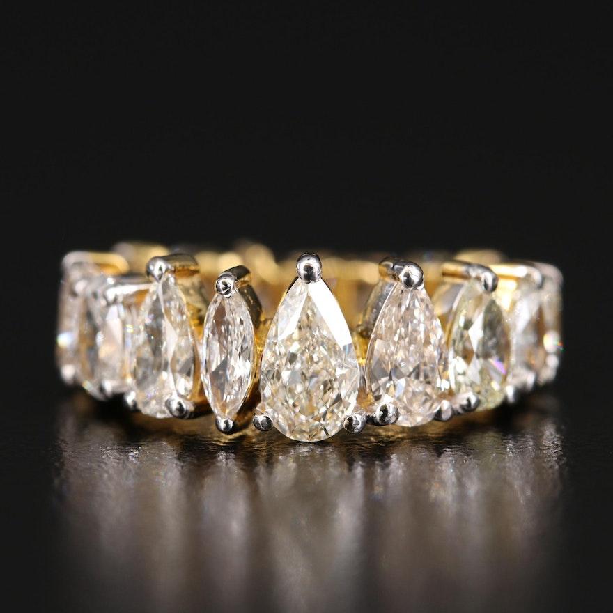 18K 4.97 CTW Diamond Graduated Eternity Ring