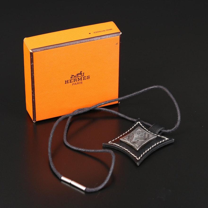 Hermès Touareg Leather Pendant Necklace