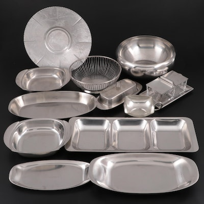 Cromargan, Oneida and Other Stainless Steel, Pewter and Aluminum Serveware