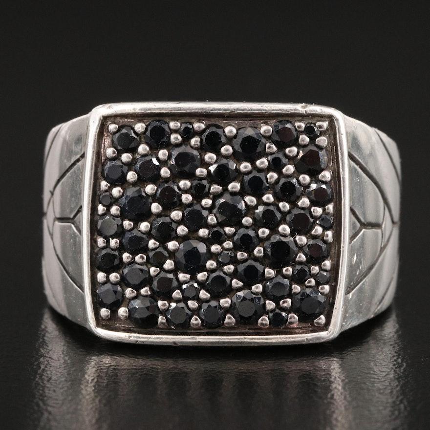 "John Hardy ""Modern Chain"" Sterling Sapphire Ring"
