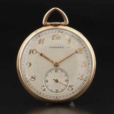 Tavannes 10K Gold Filled Pocket Watch