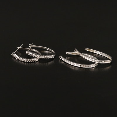 10K Diamond Hoop Earrings and 10K Diamond Enhancers