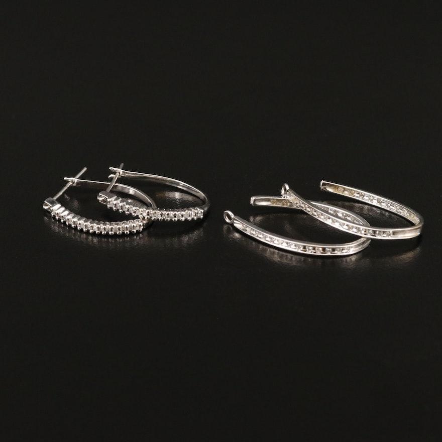 10K Diamond Hoop Earrings and 10K Diamond Enhancers
