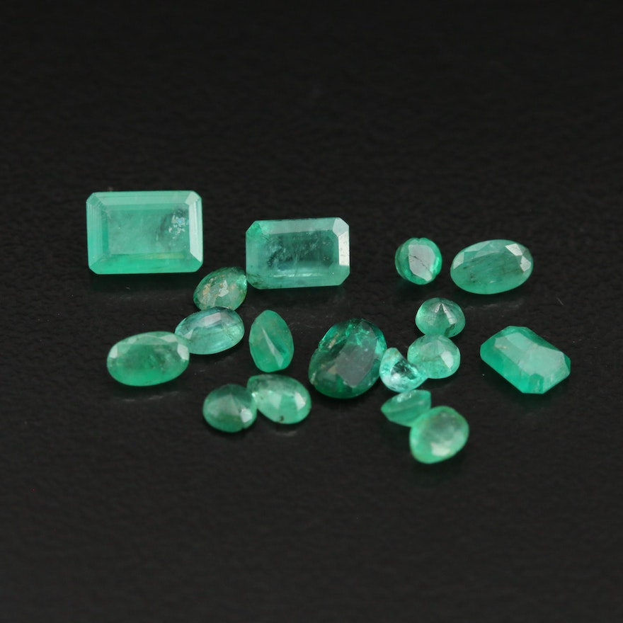 Loose 4.05 CTW Faceted Emeralds