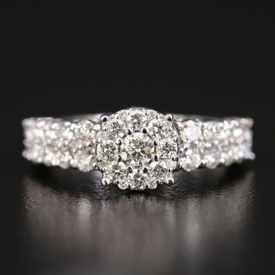 EFFY 14K Diamond Cluster Ring