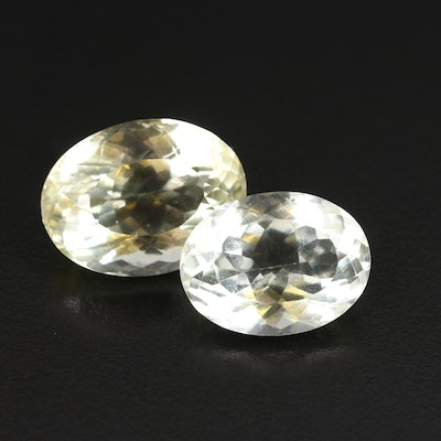 Loose 43.98 CTW Oval Faceted Citrines