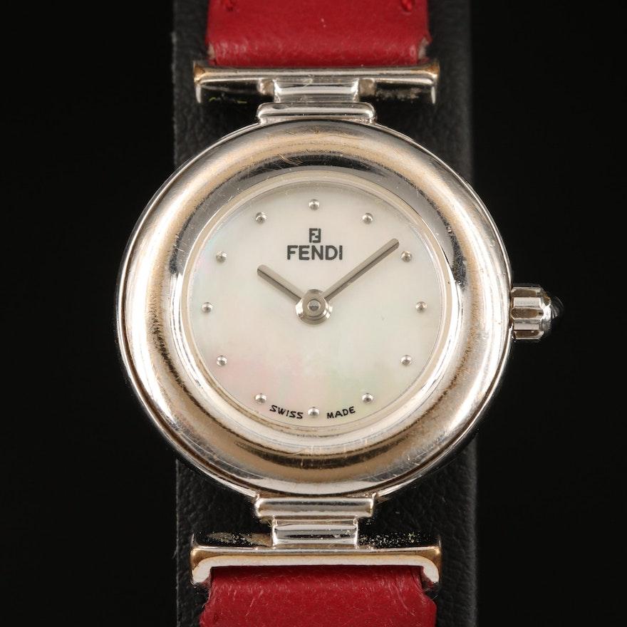 Swiss Fendi Mother of Pearl Wristwatch