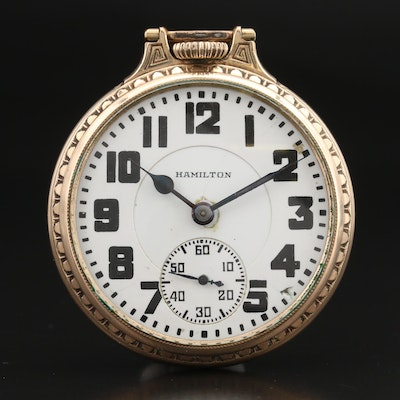 1927 Hamilton Railroad Grade Pocket Watch