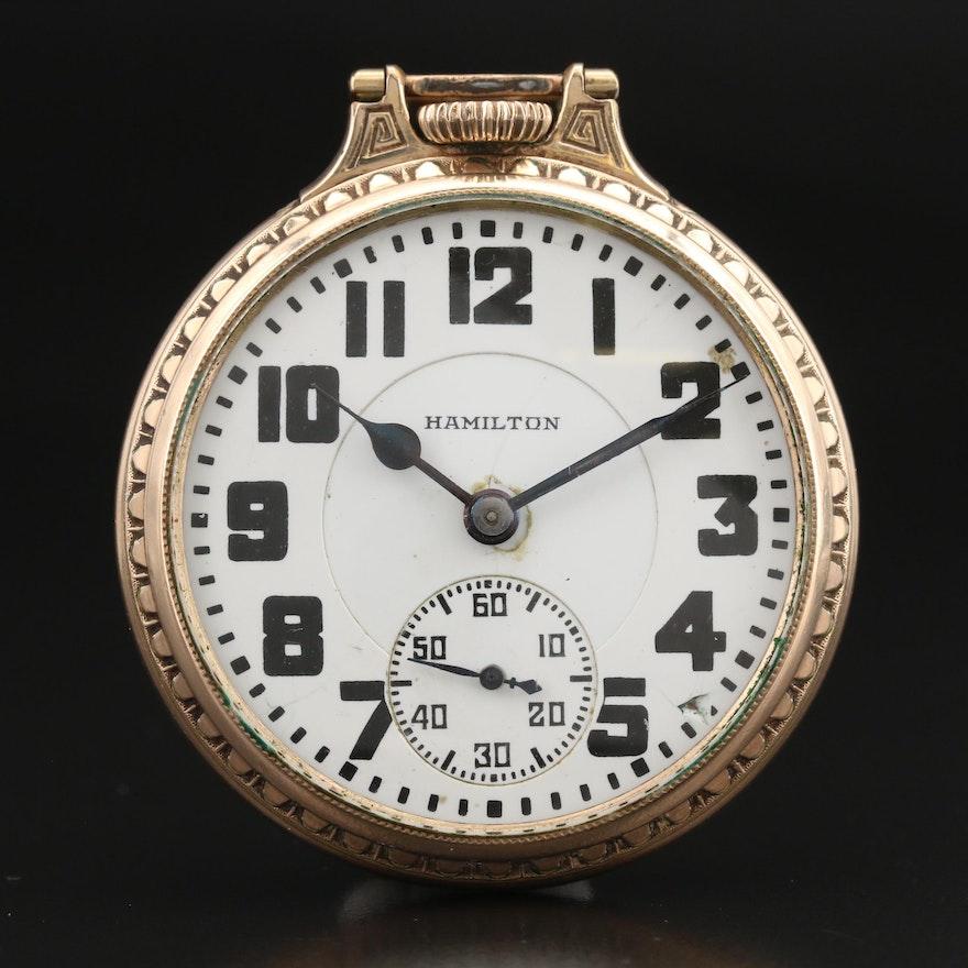 1927 Hamilton Railroad Grade Pocket Watch