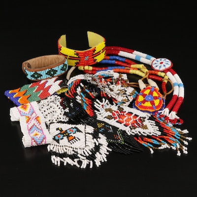 Northern Plains Style Beaded Necklaces and Bracelets