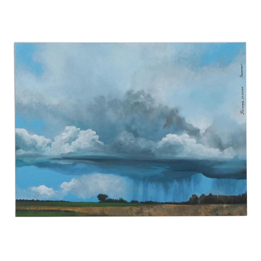 Hilmenna Landscape Acrylic Painting, 2020