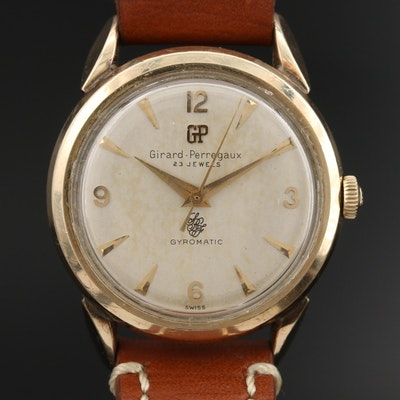Vintage Girard-Perregaux Gyromatic Gold Filled Wristwatch