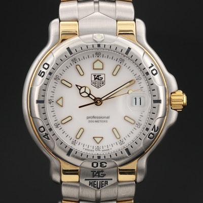 TAG Heuer 6000 18K Yellow Gold and Stainless Steel Quartz Wristwatch