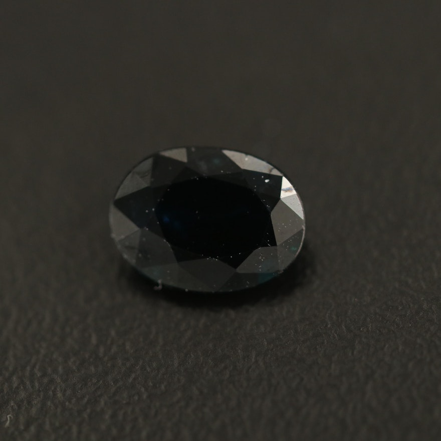 Loose 1.28 CT Oval Faceted Sapphire