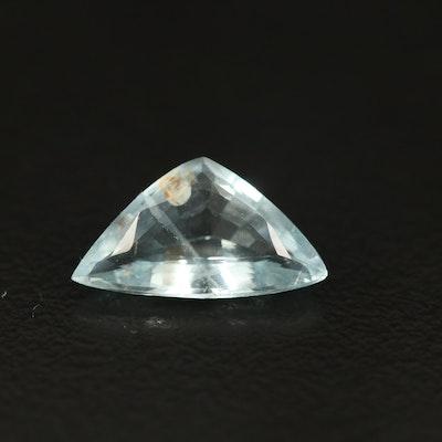Loose 1.68 CT Trillion Faceted Aquamarine