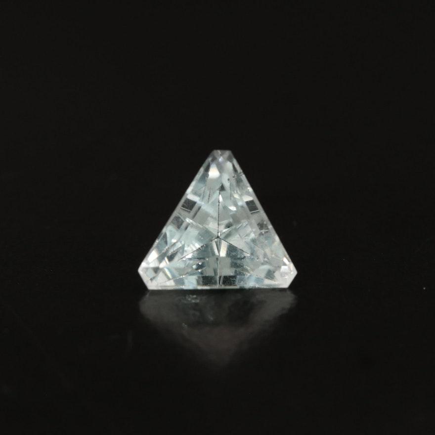 Loose 2.49 CT Trillion Faceted Aquamarine
