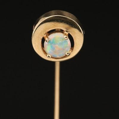 14K Opal Stick Pin