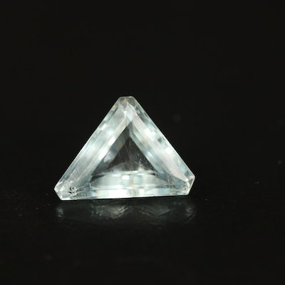 Loose 1.79 CT Triangle Faceted Aquamarine