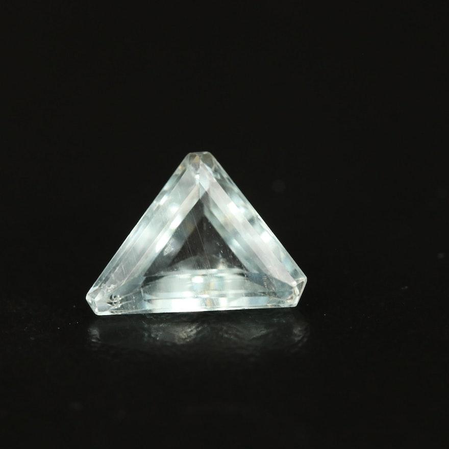 Loose 1.79 CT Triangle Faceted Aquamarine