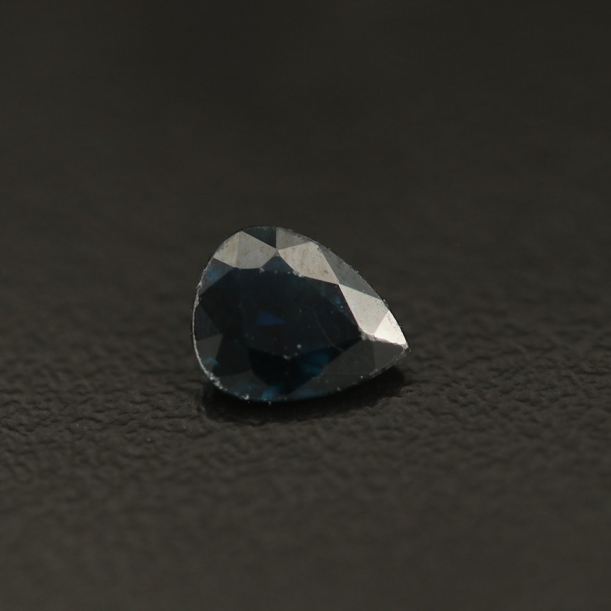 Loose 0.96 CT Pear Faceted Sapphire