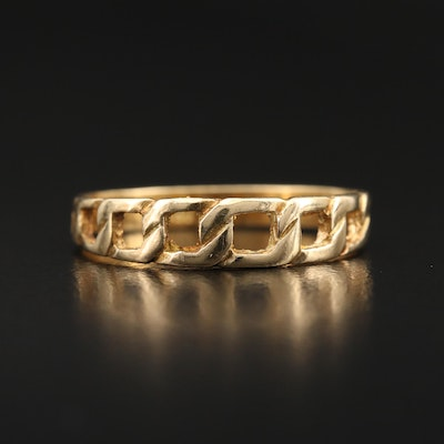 18K Curb Link Style Band